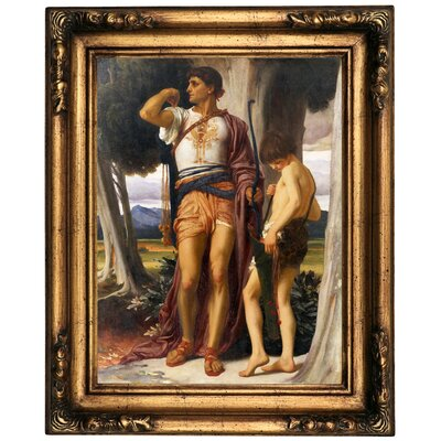 'Jonathan token to David 1868' Framed Oil Painting Print on Canvas Format: Bronze Framed, Size: 20.5