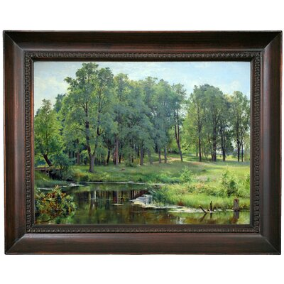 'In the Park 1897' Framed Oil Painting Print on Canvas Format: Dark Gray Framed, Size: 15.5