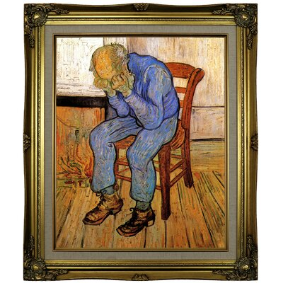 'Old Man in Sorrow On the Threshold of Eternity' by Vincent van Gogh Framed Oil Painting Print on Canvas Format: Brown/Gold Framed, Size: 25.25