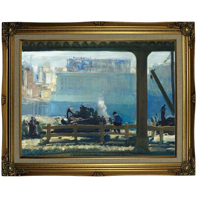 'Blue Morning 1909' Framed Oil Painting Print on Canvas Format: Light Copper Framed, Size: 23.25'' H x 29.25'' W x 1.5'' D