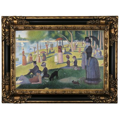 'Sunday afternoon on Sue La Grande Island' Framed Oil Painting Print on Canvas Format: Black Framed, Size: 17.25