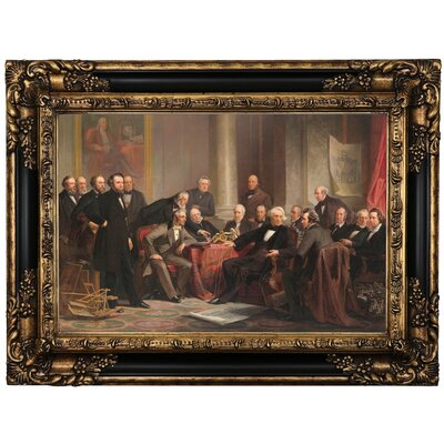 'Men of Progress 1862' Framed Oil Painting Print on Canvas Format: Black/Gold Framed, Size: 17.25