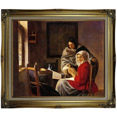 'Girl Interrupted' Framed on Canvas Format: Black Gold Framed, Size: 25.25