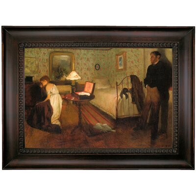 'Interior 1868' by Edgar Degas Framed Oil Painting Print on Canvas Format: Charcoal Framed, Size: 26