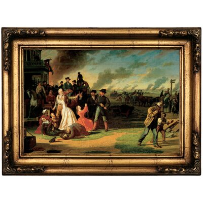 'Order Number 11 1865' Framed Oil Painting Print on Canvas Format: Antique Gold Framed, Size: 16.5