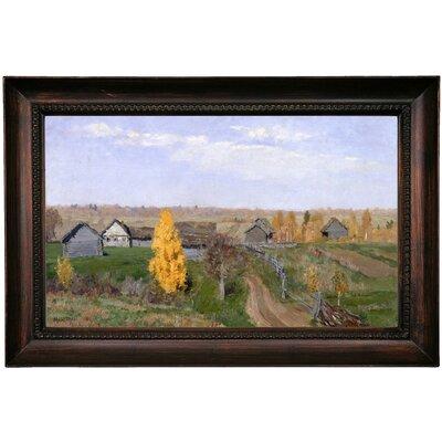 'Golden autumn Slobodka 1889' Framed Oil Painting Print on Canvas Format: Dark Gray Framed, Size: 15.5