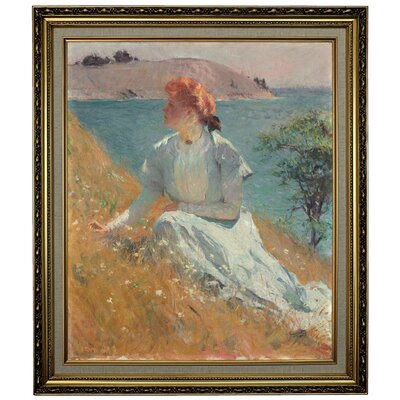 'Margaret Gretchen Strong 1909' Framed Oil Painting Print on Canvas Format: Light Gold Framed, Size: 28.15