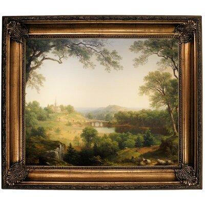 'Sunday Morning 1860' Framed Oil Painting Print on Canvas Format: Bronze Framed, Size: 26.25