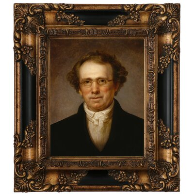 'Portrait of Henry Robinson 1814' Framed Oil Painting Print on Canvas Format: Antique Gold Framed, Size: 15.25
