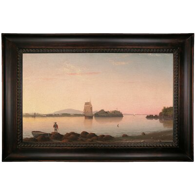 'Owls Head, Penobscot Bay, Maine 1862' Framed Oil Painting Print on Cavas