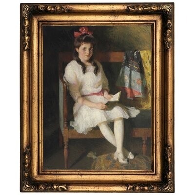 'Portrait of Gertrude Russell 1915' Framed Oil Painting Print on Canvas Format: Old Gold Framed, Size: 20.5
