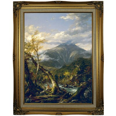 'Indian Pass 1847' Framed Oil Painting Print on Canvas Format: Gold Framed, Size: 29.25