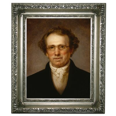 'Portrait of Henry Robinson 1814' Framed Oil Painting Print on Canvas Format: Silver Framed, Size: 13