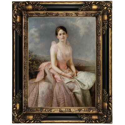 'Portrait of Juliette Gordon Low 1887' Framed Oil Painting Print on Canvas Format: Peru Framed, Size: 21.25