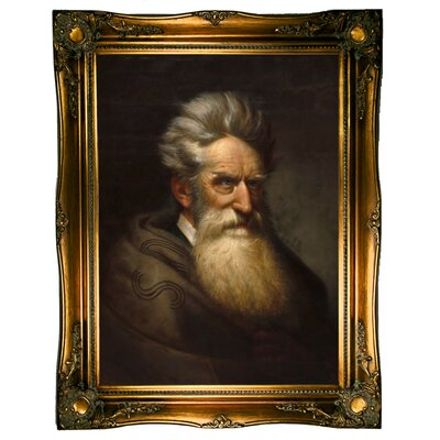'John Brown 1872' Framed Oil Painting Print on Canvas Format: Dark Gold Framed, Size: 31.5