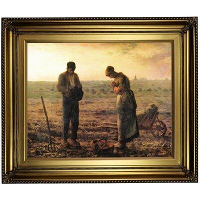 'Angelus bell' Framed Print on Canvas Format: Gold Frame, Size: 22