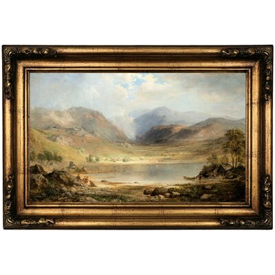 'Loch Long 1867' Framed Oil Painting Print on Canvas Format: Bronze Framed, Size: 16.5