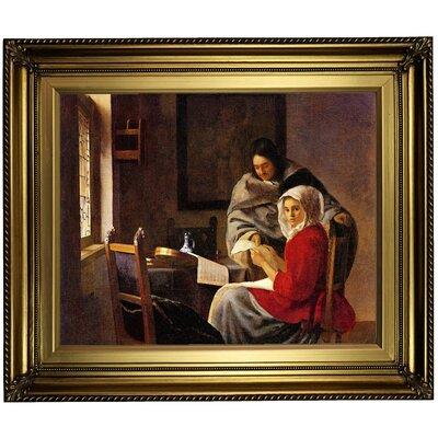 'Girl Interrupted' Framed on Canvas Format: Light Gold Framed, Size: 22