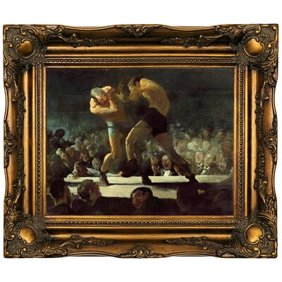 'Club Night 1907' Framed Oil Painting Print on Canvas Format: Dark Brown Framed, Size: 16.5'' H x 19.5'' W x 2'' D