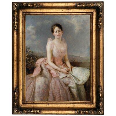 'Portrait of Juliette Gordon Low 1887' Framed Oil Painting Print on Canvas Format: Old Gold Framed, Size: 20.5