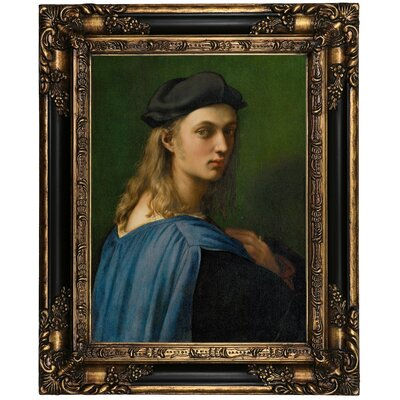 'Portrait of Bindo Altoviti' Framed Oil Painting Print on Canvas Format: Peru Framed, Size: 21.25