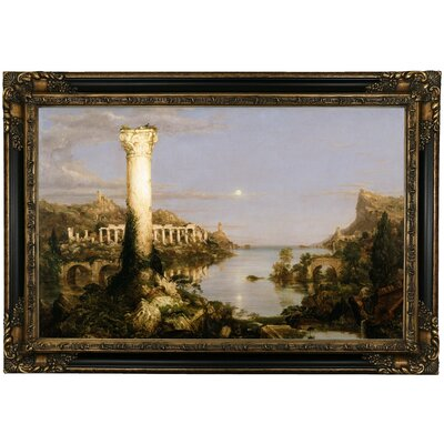 'The Course of Empire Desolation 1836' Framed Oil Painting Print on Canvas Format: Black Framed, Size: 24.25
