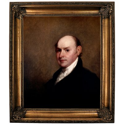 'John Quincy Adams 1818' Framed Oil Painting Print on Canvas Format: Brown Framed, Size: 30.25