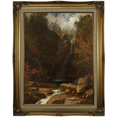'Glen Ellis Falls 1869' Framed Oil Painting Print on Cavas