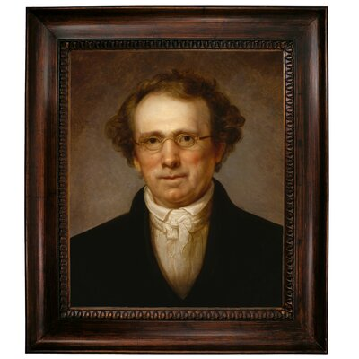 'Portrait of Henry Robinson 1814' Framed Oil Painting Print on Canvas Format: Dark Brown Framed, Size: 31