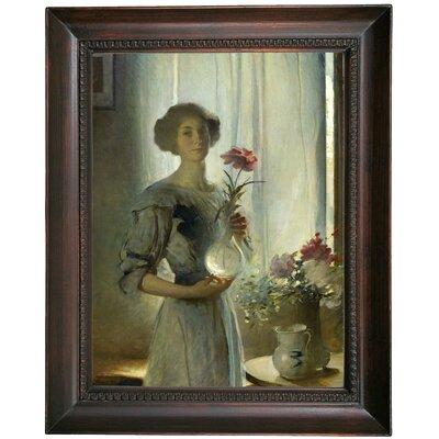 'Portrait of June 1911' Framed Oil Painting Print on Canvas Format: Dark Gray Framed, Size: 19.5