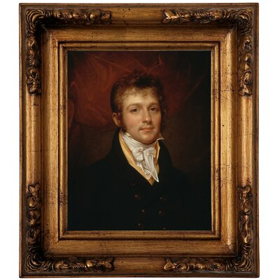 'Portrait of Edward Shippen Burd of Philadelphia 1806' Framed Oil Painting Print on Canvas Format: Antique Gold Framed, Size: 14.5
