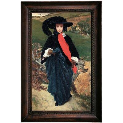 'Portrait of May Sartoris 1860' Framed Oil Painting Print on Canvas Format: Dark Gray Framed, Size: 23.5
