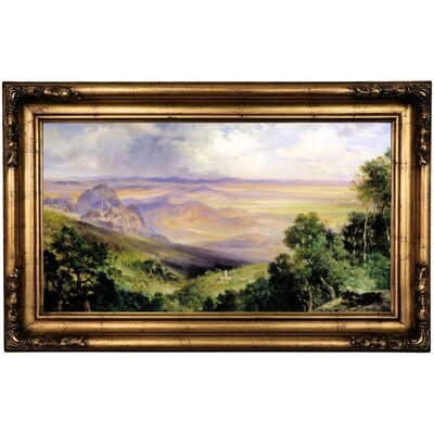 'Valley of Cuernavaca' Framed Oil Painting Print on Cavas Format: Antique Gold Framed, Size: 16.5