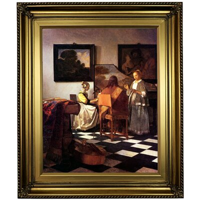 'The Concert Stolen' by Johannes Vermeer Framed Oil Painting Print on Canvas Format: Light Gold Framed, Size: 26