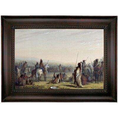 'Indian Council 1858' Framed Oil Painting Print on Canvas Format: Charcoal Framed, Size: 26