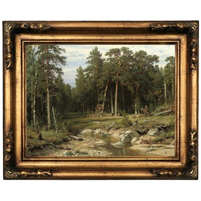 'Mast Pine Forest in Viatka Province 1895' Framed Oil Painting Print on Canvas Format: Bronze Framed, Size: 16.5