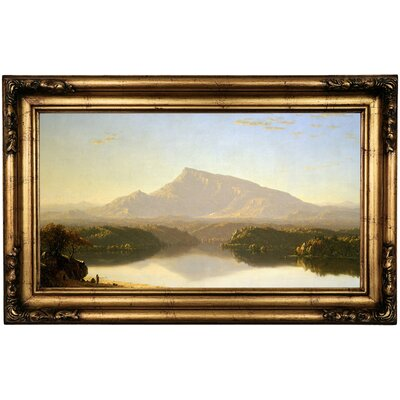 'Wilderness 1860' Framed Oil Painting Print on Canvas Format: Antique Gold Framed, Size: 16.5