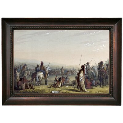'Indian Council 1858' Framed Oil Painting Print on Canvas Format: Dark Brown Framed, Size: 15.5