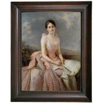'Portrait of Juliette Gordon Low 1887' Framed Oil Painting Print on Canvas Format: Dark Gray Framed, Size: 19.5