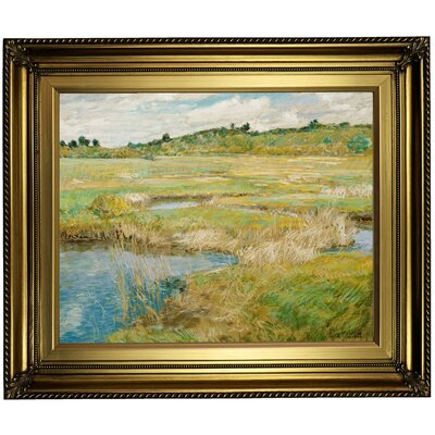 'The Concord Meadow' Framed Oil Painting Print on Canvas Format: Light Gold Framed, Size: 22