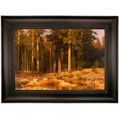 'Mast Tree grove 1887' Framed Oil Painting Print on Canvas Format: Brown Coffee Framed, Size: 26