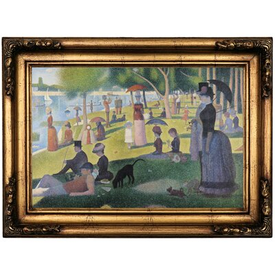 'Sunday afternoon on Sue La Grande Island' Framed Oil Painting Print on Canvas Format: Antique Gold Framed, Size: 16.5