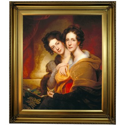 'The Sisters (Eleanor and Rosalba Peale) 1826' Framed Oil Painting Print on Canvas in Gold Format: Gold Framed, Size: 30
