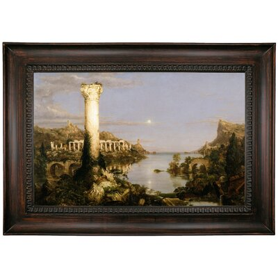 'The Course of Empire Desolation 1836' Framed Oil Painting Print on Canvas Format: Black Framed, Size: 26