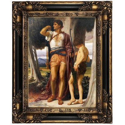 'Jonathan token to David 1868' Framed Oil Painting Print on Canvas Format: Black/Bronze Framed, Size: 21.25