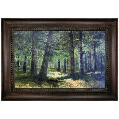'Forest 1890' Framed Oil Painting Print on Canvas Format: Black Framed, Size: 26