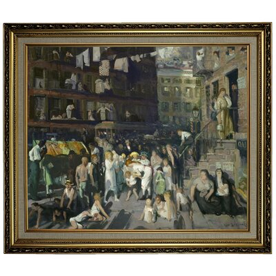 'Cliff Dwellers 1913' Framed Oil Painting Print on Canvas Format: Black/Silver Framed, Size: 24.15'' H x 28.15'' W x 1.75'' D