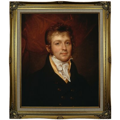 'Portrait of Edward Shippen Burd of Philadelphia 1806' Framed Oil Painting Print on Canvas Format: Black Gold Framed, Size: 29.25