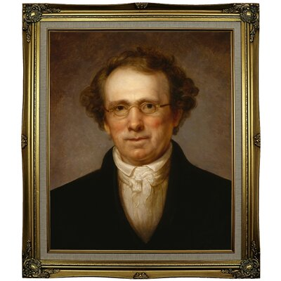 'Portrait of Henry Robinson 1814' Framed Oil Painting Print on Canvas Format: Black Gold Framed, Size: 29.25