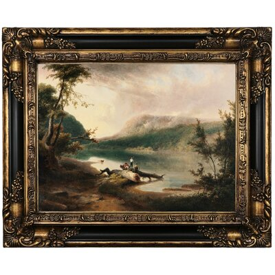 'Delaware Water Gap 1827' Framed Oil Painting Print on Canvas Format: Peru Framed, Size: 17.25'' H x 21.25'' W x 1.5'' D
